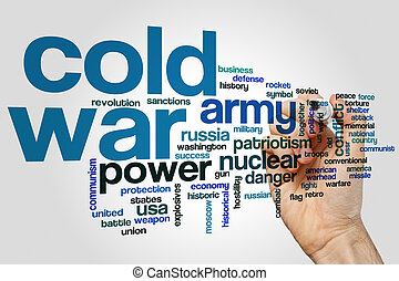 Cold war word cloud concept