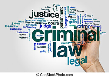 Criminal law word cloud concept