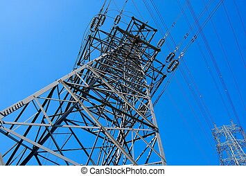 Electricity pylons - Part of the two electricity pylons...