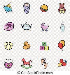 Baby set icons
