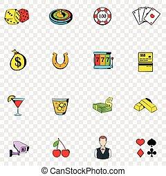 Gambling set icons
