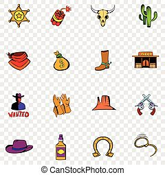 Wild West set icons