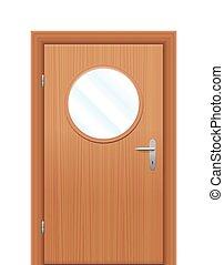 Door Viewing Window Circular - Door with circular viewing...