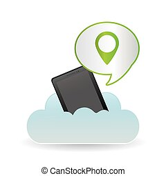 gps icon design, vector illustration