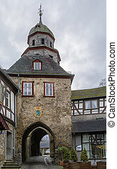 Gate tower, Braunfels, Germany