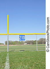 Baseball Foul Pole and Outfield Fence - Little League...