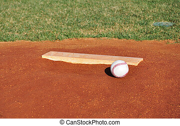 Baseball on the Pitcher\'s Mound