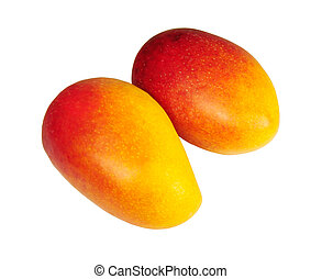 mango - Picture of isolated mango with white background.