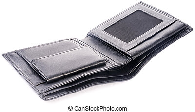 Empty leather wallet