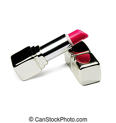 lipstick - Picture of isolated lipstick with white...