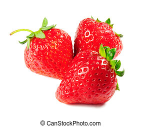 strawberry - Picture of isolated strawberry with white...