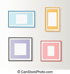 Blank picture frames set - Useful templates for...