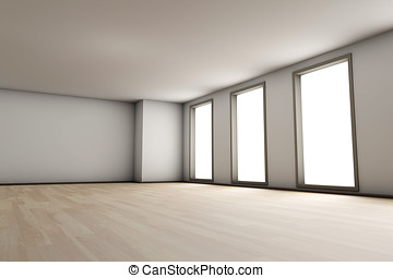 Empty Room - A empty residential room of a available...