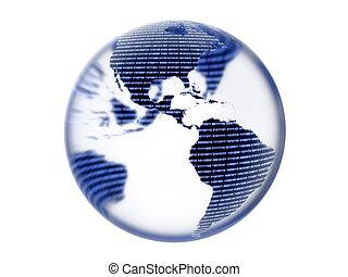 Digital Binary Earth Globe