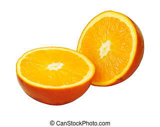 half orange - Picture of isolated half orange with white...