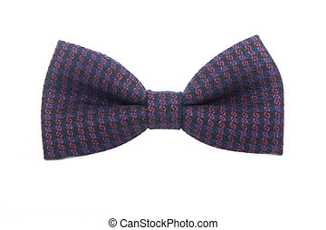 dotted bow-tie on white with clipping path