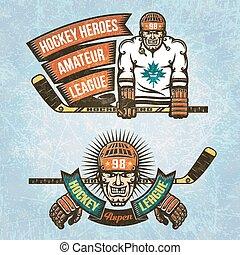 Amateur Hockey League - Logos Amateur Hockey League. Ice...