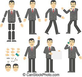 Businessman Constructor. Perhaps create your own posture and...