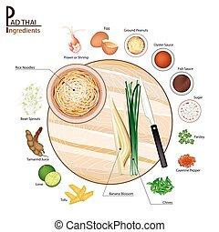 16 Ingredients Pad Thai or Thai Stir Fried Noodles - Thai...