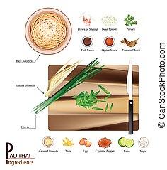 16 Ingredients Pad Thai or Stir Fried Noodles - Thai...