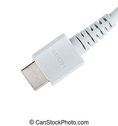 HDMI Cable Plug - HDMI cable plug, isolated on white...