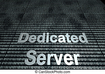 Dedicated Server binary background - The word server in...