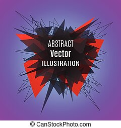 Abstract red polygonal explosion