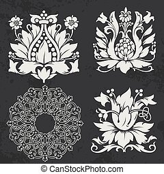 Design elements - Floral and geometry design elements