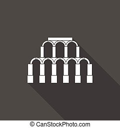 Ancient Roman architecture Icon - Ancient Roman architecture...