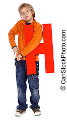"""Letter \""""H\"""" boy - See all letters in my Portfolio"""