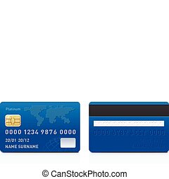 Realistic credit card - Realistic vector credit card...