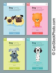 Animal banner with dogs for web design  8