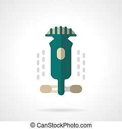 Longboarding sign flat color design vector icon - Abstract...