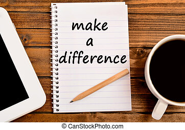 Make a difference words
