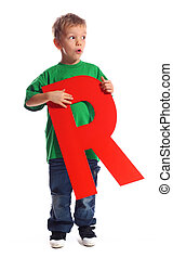 Letter quot;Rquot; boy - Letter R boy - See all letters in...