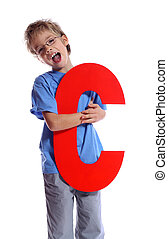 "Letter ""C\"" boy - The Alphabet Series"