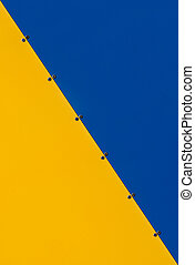 Metal texture yellow and blue - Texture metal plates of...