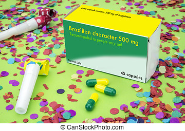 Open medicine packet labelled Brazilian character, its a...