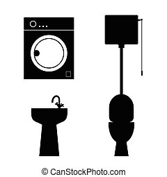 bathroom objects illustration
