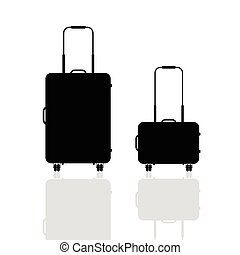 travel bag silhouette illustration in black color