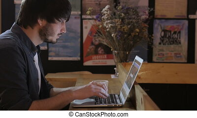 Young Entrepreneur Freelancer Working using a Laptop