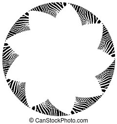 Abstract zebra vector frame - Abstract black and white zebra...