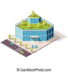 isometric school High-tech - Vector isometric school or...