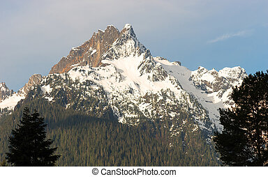 Whitehorse Mountain Top Sauk River Valley North Cascade...
