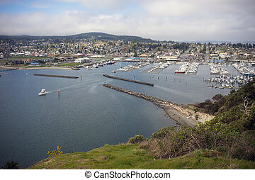 Cap Sante Marina Overlook Puget Sound Anacortes Washington