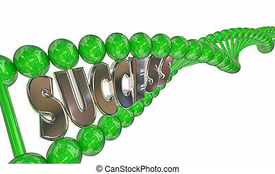 Success in Your DNA Strand Genetics Heredity Winning Traits