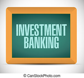 investment banking chalkboard sign concept