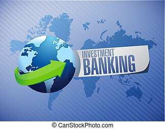 investment banking global sign concept