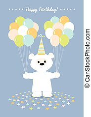 white teddy bear balloons