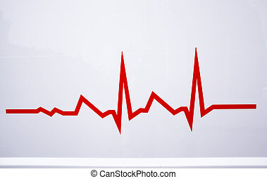 red electrocardiogram line